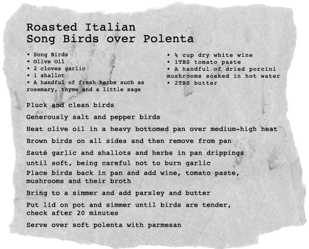 songbird_ingredients
